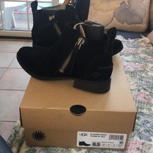 Aureo Black suede boot. Fits true to shoe size.